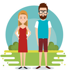 standing couple design vector image