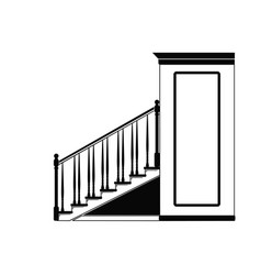 steps to the second floor vector image