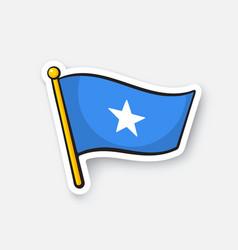 Sticker flag somalia vector
