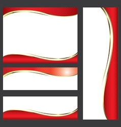 Template red card element design vs vector image