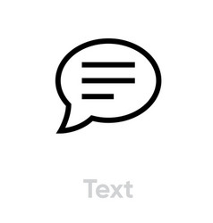 text chat and message icon editable line vector image