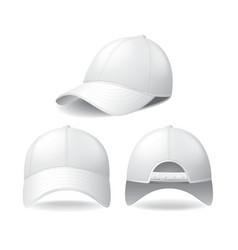 white baseball cap isolated on vector image