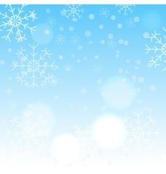Winter snowflake background vector