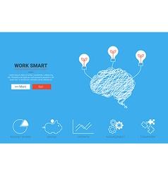 Work Smart Concept vector image