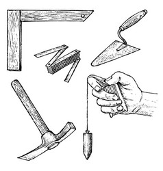 work tools for construction and repair vector image