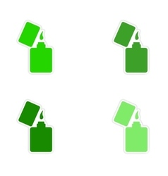Assembly realistic sticker design on paper lighter vector