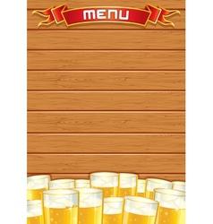 Blank Pub Menu Wooden Background vector image vector image