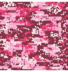 Camouflage pink houndstooth vector image