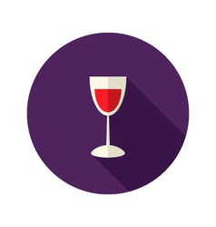 Christmas glass of wine icon vector