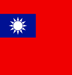 flag of taiwan sign vector image