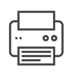 printer thin line icon vector image vector image