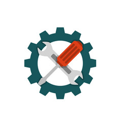technical support flat icon vector image