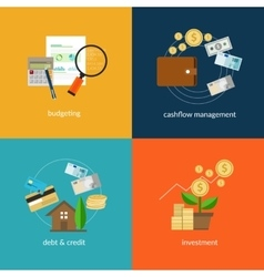 personal finance icon set vector image