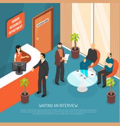 Interview waiting area vector