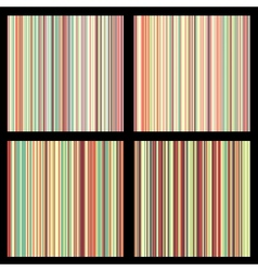 Set of striped seamless patterns vector image