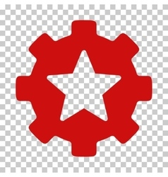 Star Favorites Options Gear Icon vector image vector image