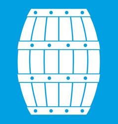 barrel icon white vector image vector image