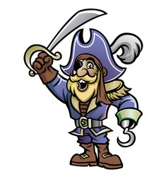 cartoon of pirate vector image vector image