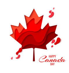 happy canada day holiday poster vector image