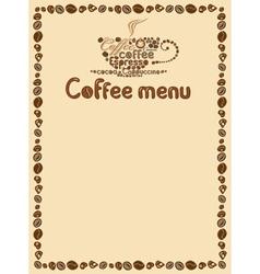 menu simply vector image vector image