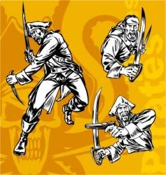 pirates sketch vector image vector image