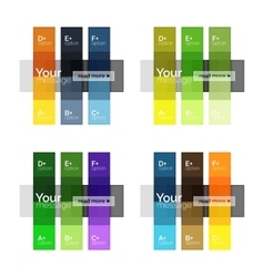 Square and stripes geometric infographic templates vector image vector image
