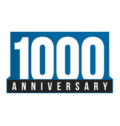 1000th anniversary icon birthday logo vector