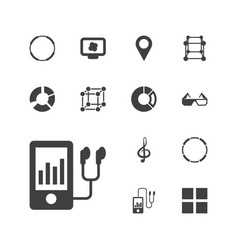 13 3d icons vector