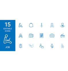 15 job icons vector