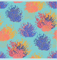 abstract graphic seamless pattern bushes vector image