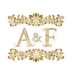 AF vintage initials logo symbol Letters A F vector