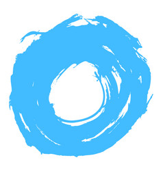 Blue brushstroke circle form vector
