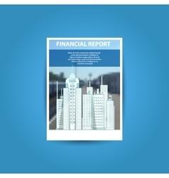 business brochure flyer design template a4 vector image
