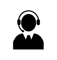 call center operator icon icon simple element vector image