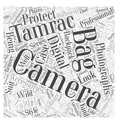 camera bag tamrac Word Cloud Concept vector image
