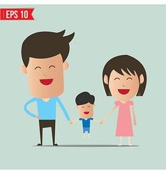 Cartoon Happy family - - EPS10 vector