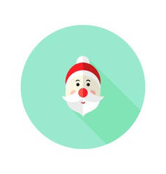 Christmas Santa Claus Flat Icon vector image