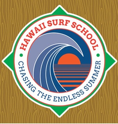 Classic Surf Logo vector image