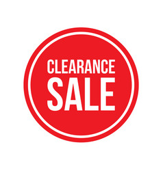 clearance sale sign circular vector image