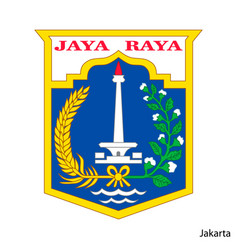 Coat arms jakarta is a indonesian region vector