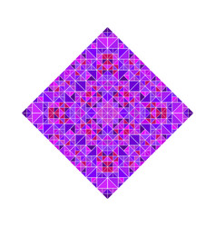 Colorful abstract polygonal ornate mosaic square vector