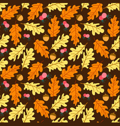 colorful autumn leaves seamless pattern seamless vector image