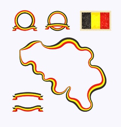 Colors of Belgium vector image