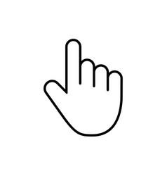 computer mouse click cursor gray arrow icon and vector image