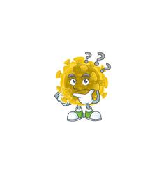 Cute infectious coronavirus using a microphone vector