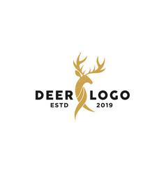 deer horn logo template vector image
