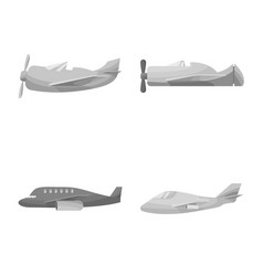 Design aviation and airline symbol set vector