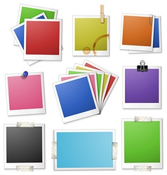 Different design of photo frames vector image