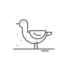 Duck line icon concept duck linear vector