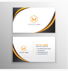 Elegant business card template vector